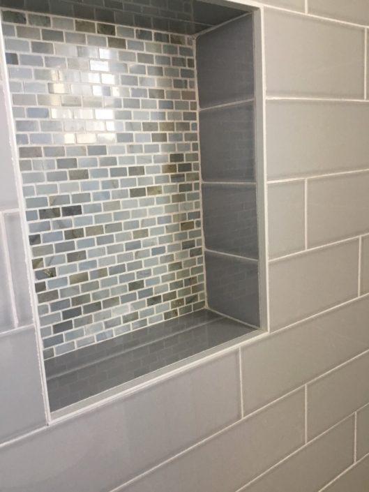 Little Harbor, Cohasset - tiled bath niche