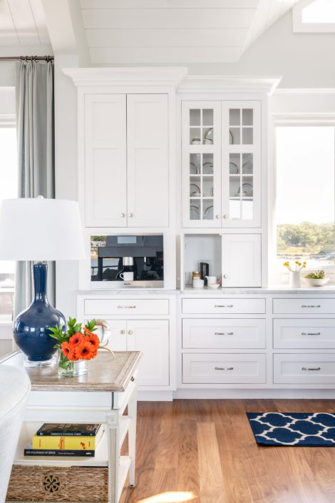 Little Harbor, Cohasset - kitchen builtin coffee maker