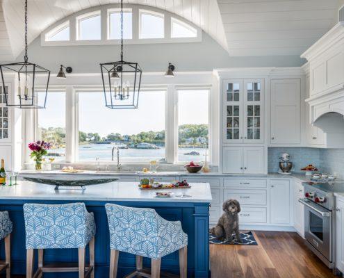 Little Harbor, Cohasset - kitchen large island