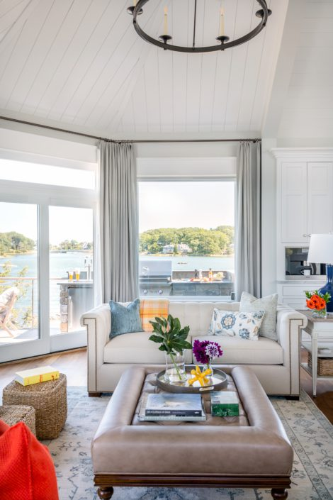 Little Harbor, Cohasset - living room water view