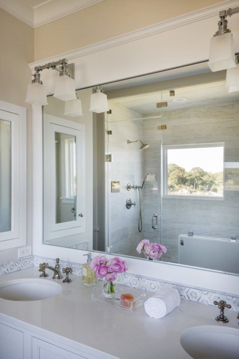 Little Harbor, Cohasset - master bath vanity
