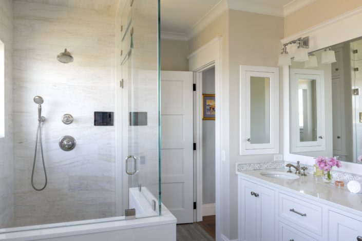 Little Harbor, Cohasset - master bath with steam shower
